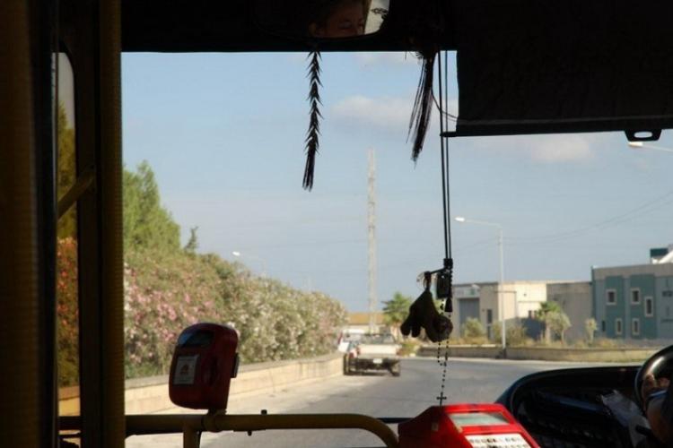 Różaniec w autobusie