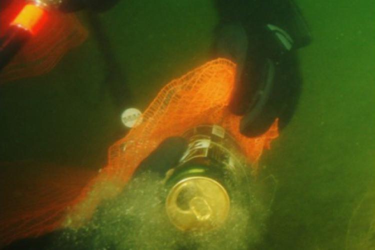 Śmieci znalezione pod wodą wędrowały do worków