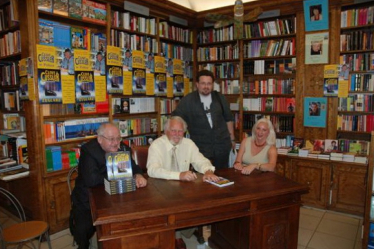 Autor na spotkaniu z Clivem Cusslerem podczas promocji ksiązki