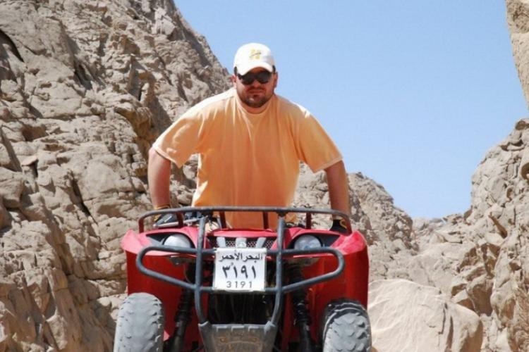 Quadami wjechaliśmy w głąb pustyni na 20km