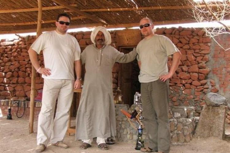 Z Beduinem tuz przed herbatką