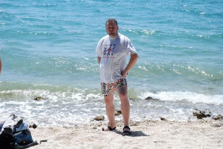 Autor nad brzegiem Adriatyku