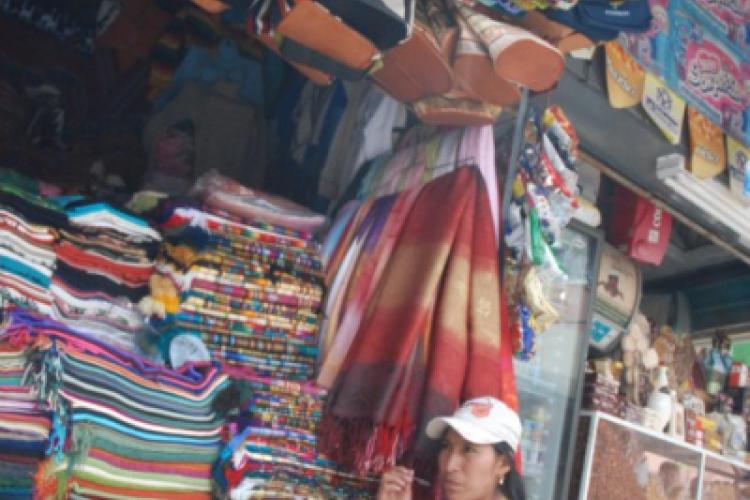 Indianka na targowisku w Quito