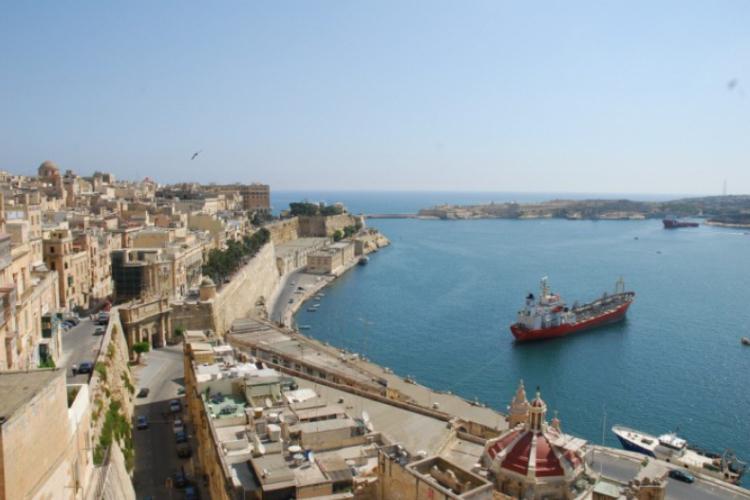 Widok na port - Valetta
