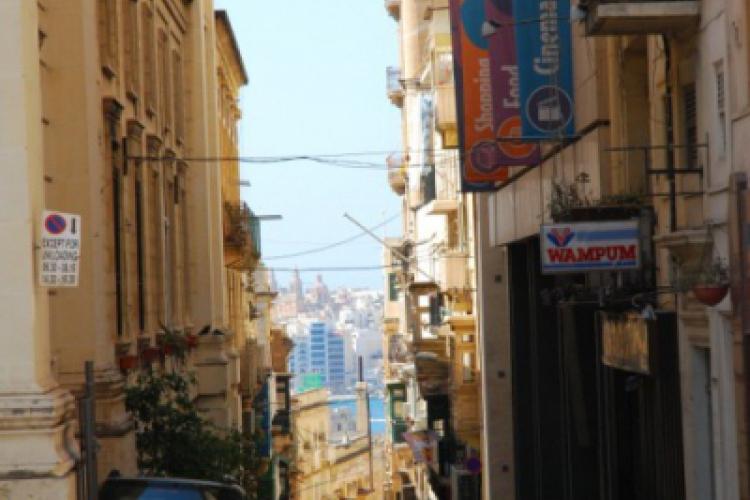Jedna z bocznych uliczek Valletty