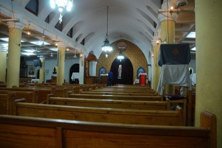 Kościół koptyjski wewnątrz.