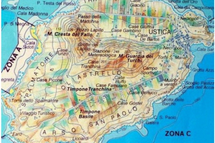 Ustica-mapa