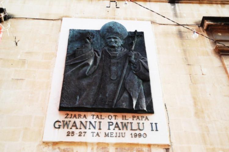 Pamiątka z pobytu naszego papieża JPII