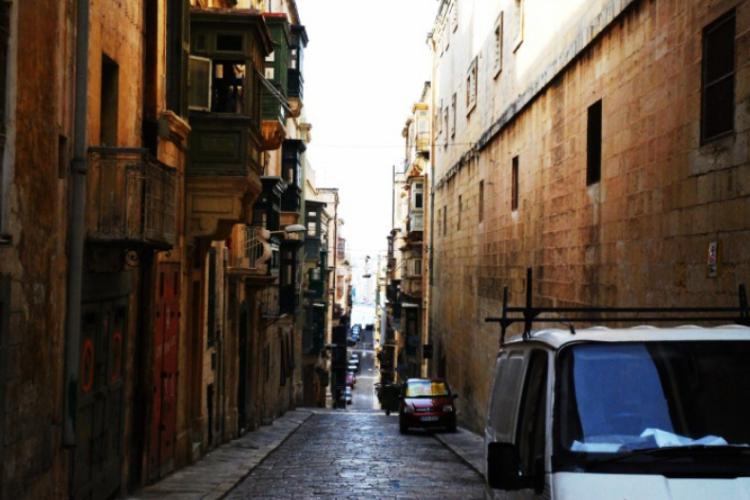 Uliczka stolicy prawie nie uczęszczana przez turystów