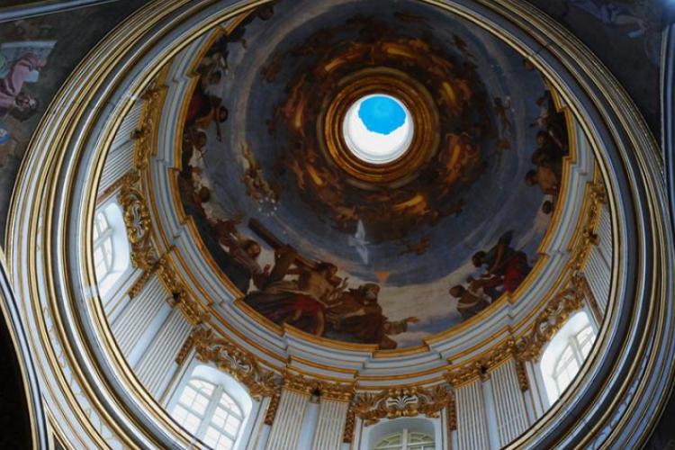 Mdina - Kopuła w kościele Św. Piotra od wewnątrz