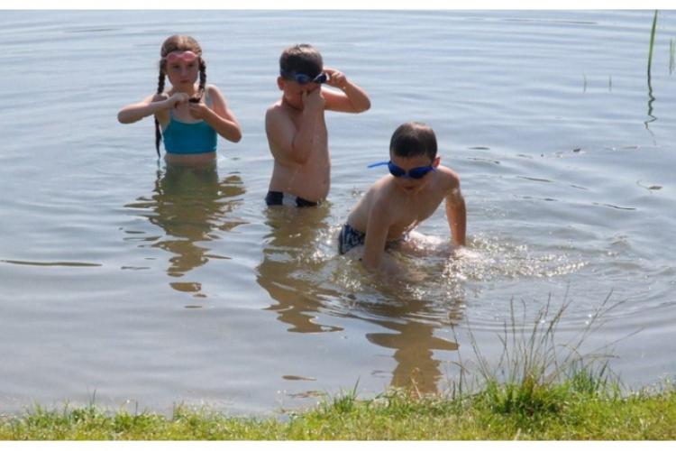 Chwila relaksu w jeziorze