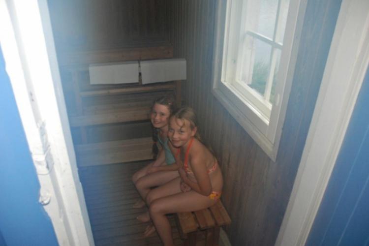 Iga i Asia w saunie