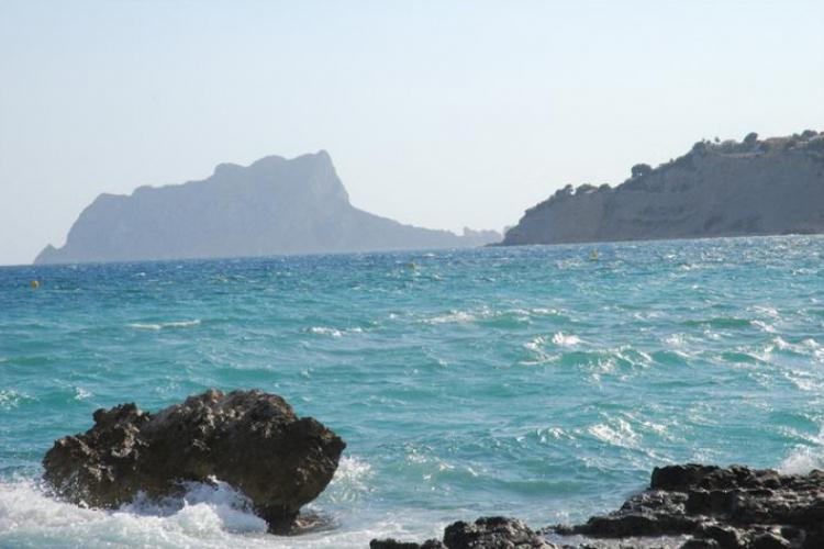 Widok z plaży w Moraira