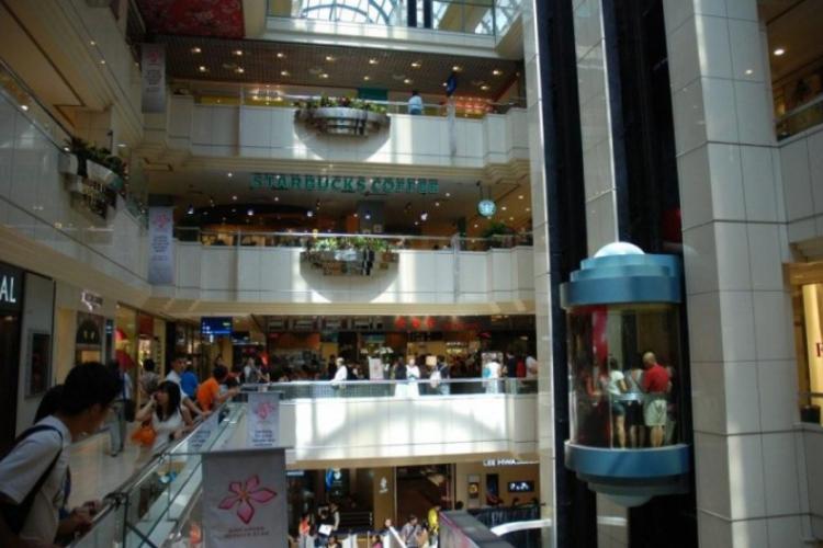 W centrum handlowym