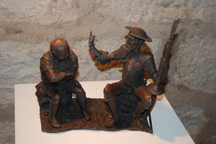 Don Kichot w muzeum na terenie zamku