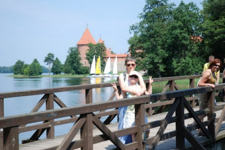 Most do zamku w Trokach